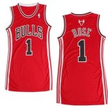 Divise Basket Personalizzate NBA Donna Chicago Bulls NO.1 Derrick Rose Rosso