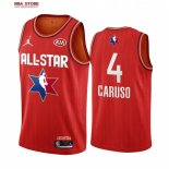 Divise Basket Personalizzate NBA 2020 All Star Alex Caruso NO.4 Rosso