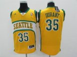 Divise Basket Personalizzate NBA Seattle Supersonics NO.35 Kevin Durant Giallo