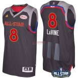 Divise Basket Personalizzate NBA 2017 All Star NO.8 Zach Lavine Carbone