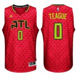 Divise Basket Personalizzate NBA Atlanta Hawks NO.0 Jeff Teague Rosso