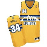 Divise Basket Personalizzate NBA Denver Nuggets NO.34 JaVale McGee Giallo