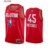 Divise Basket Personalizzate NBA 2020 All Star Donovan Mitchell NO.45 Rosso