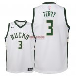 Divise Basket Personalizzate NBA Bambino Milwaukee Bucks NO.3 Jason Terry Bianco Association 2018