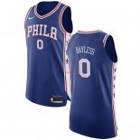 Divise Basket Personalizzate NBA Philadelphia Sixers NO.0 Jerryd Bayless Blu Icon 2017/2018