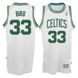 Divise Basket Personalizzate NBA Boston Celtics NO.33 Larry Joe Bird Bianco
