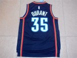 Divise Basket Personalizzate NBA Oklahoma City Thunder NO.35 Kevin Durant Nero