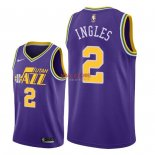 Divise Basket Personalizzate NBA Utah Jazz NO.2 Joe Ingles Retro Porpora 2018