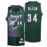 Divise Basket Personalizzate NBA Milwaukee Bucks NO.34 Ray Allen Verde