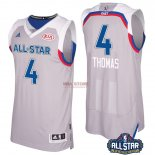 Divise Basket Personalizzate NBA 2017 All Star NO.4 Isaiah Thomas Grigio