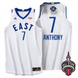 Divise Basket Personalizzate NBA 2016 All Star NO.7 Carmelo Anthony Bianco