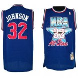 Divise Basket Personalizzate NBA 1992 All Star NO.32 Joe Johnson Blu
