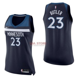 Divise Basket Personalizzate NBA Donna Minnesota Timberwolves NO.23 Jimmy Butler Marino Icon 2017/2018