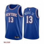 Divise Basket Personalizzate NBA New York Knicks NO.13 Marcus Morris Sr Blu Statement 2019-20