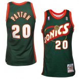 Divise Basket Personalizzate NBA Seattle Supersonics NO.20 Gary Payton Retro Verde