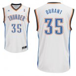 Divise Basket Personalizzate NBA Oklahoma City Thunder NO.35 Kevin Durant Bianco