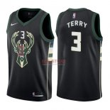 Divise Basket Personalizzate NBA Milwaukee Bucks NO.3 Jason Terry Nero Statement 2017/2018
