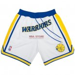 Scontate Pantaloncini NBA Golden State Warriors Nike Retro Bianco