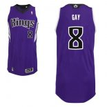 Divise Basket Personalizzate NBA Sacramento Kings NO.8 Rudy Gay Purpura