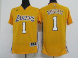 Divise Basket Personalizzate NBA L.A.Lakers Manica Corta NO.1 D'Angelo Russell Giallo