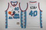 Divise Basket Personalizzate NBA 1996 All Star NO.40 Shawn Kemp Bianco