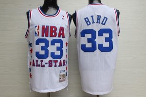 Divise Basket Personalizzate NBA 1990 All Star NO.33 Larry Joe Bird Bianco