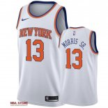 Divise Basket Personalizzate NBA New York Knicks NO.13 Marcus Morris Sr Bianco Association 2019-20