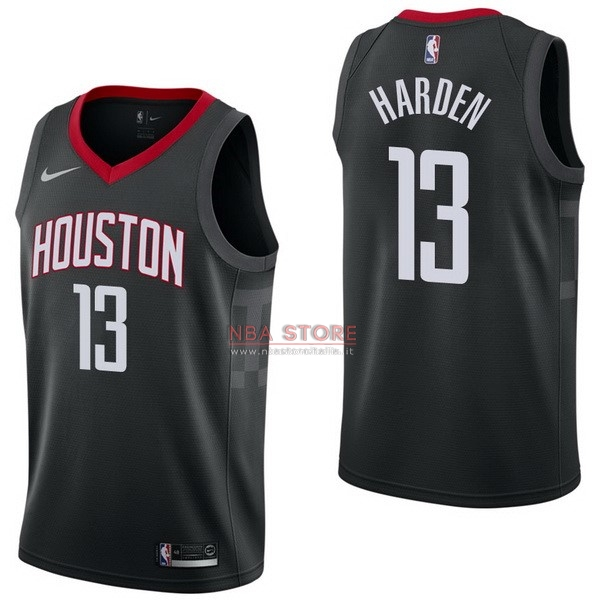 ... Divise Basket Personalizzate NBA Houston Rockets NO.13 James Harden  Nero Statement 2017 2018   a67f8048113a