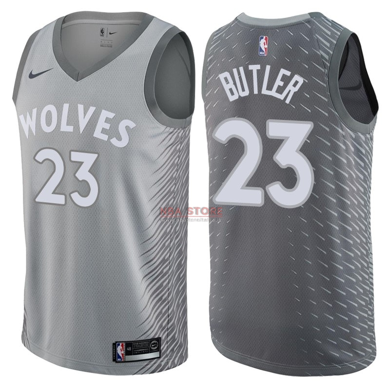 ... Divise Basket Personalizzate NBA Minnesota Timberwolves NO.23 Jimmy  Butler Nike Grigio Città 2017  b219d03f02ba