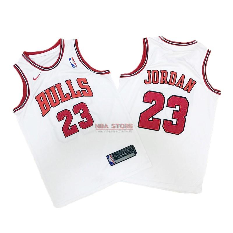 ... Divise Basket Personalizzate NBA Bambino Chicago Bulls NO.23 Michael  Jordan Bianco 2017 2018   4579744b496a