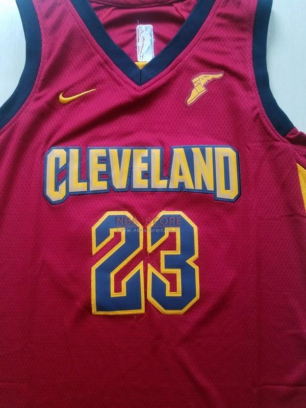 ... Divise Basket Personalizzate NBA Bambino Cleveland Cavaliers Set  Completo NO.23 LeBron James Rosso 2017 ... 11fafdee2e79