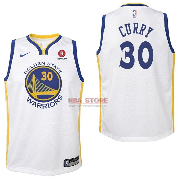 ... Divise Basket Personalizzate NBA Bambino Golden State Warriors NO.30  Stephen Curry Bianco 2017  79733d69eb3b
