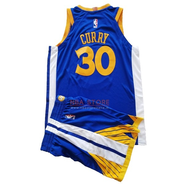 ... Divise Basket Personalizzate NBA Bambino Golden State Warriors Set  Completo NO.30 Stephen Curry Blu 77873c9b49cc