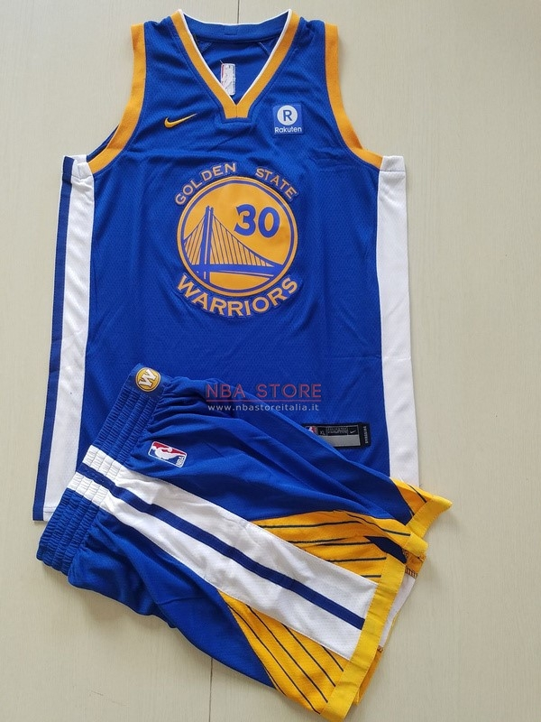 ... Divise Basket Personalizzate NBA Bambino Golden State Warriors Set  Completo NO.30 Stephen Curry Blu ... 8c3d59d7bb10