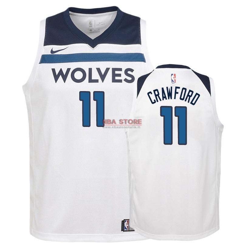 Divise Basket Personalizzate NBA Bambino Minnesota Timberwolves NO.11 Jamal  Crawford Bianco Association 2018. Loading zoom   2ab92180f262