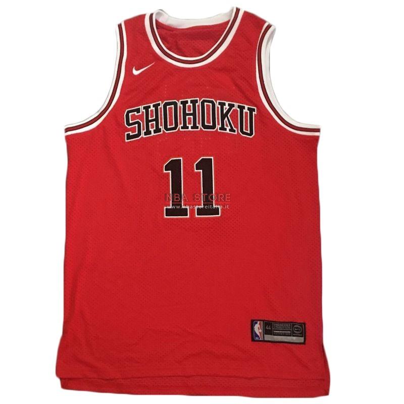 b5a4628a3e45 ... Divise Basket Personalizzate NBA Film Basket Slam Dunk Shohoku NO.11  Rukawa Kaede Rosso
