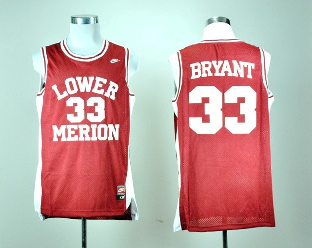 ... Divise Basket Personalizzate Lower Merion NO.33 Kobe Bryant Rosso ?