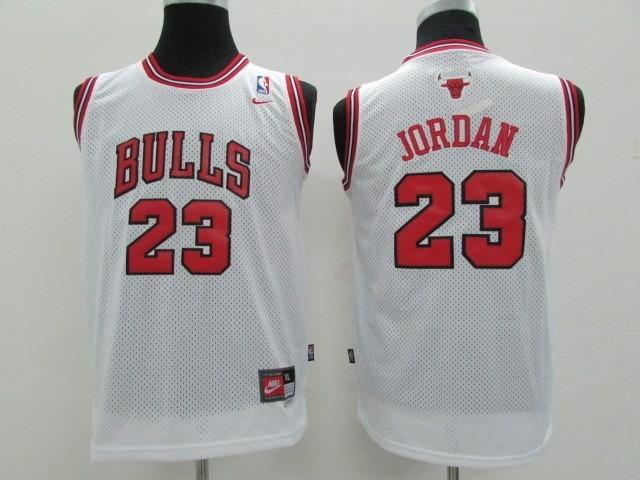 ... Divise Basket Personalizzate NBA Bambino Chicago Bulls NO.23 Michael  Jordan Bianco   bd4705350b45