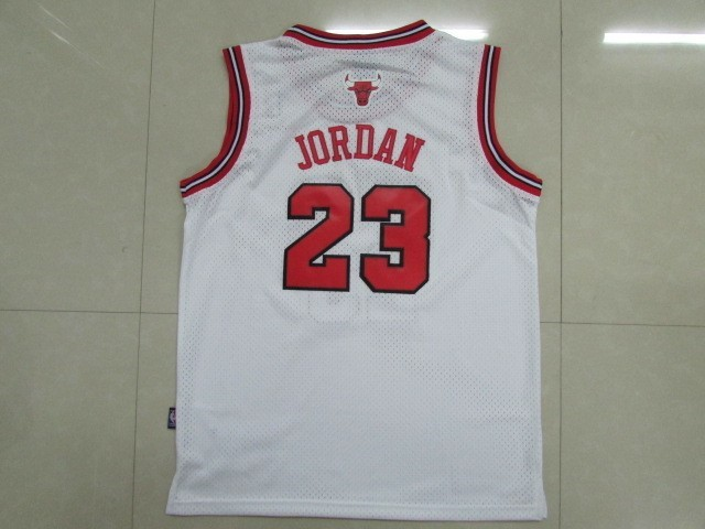 ... Divise Basket Personalizzate NBA Bambino Chicago Bulls NO.23 Michael  Jordan Bianco ... ff94f39882b3