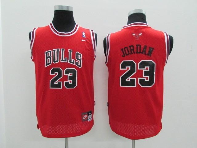 eb53a36855 ... Divise Basket Personalizzate NBA Bambino Chicago Bulls NO.23 Michael Jordan  Rosso
