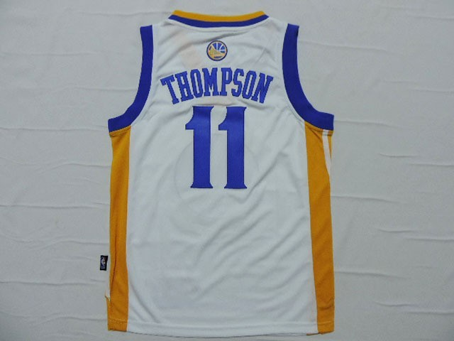 ... Divise Basket Personalizzate NBA Bambino Golden State Warriors NO.11  Klay Thompson Bianco   832f5217e261