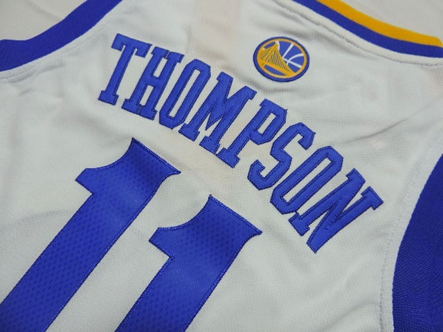 Divise Basket Personalizzate NBA Bambino Golden State Warriors NO.11 Klay  Thompson Bianco ... 2b672ea7f640