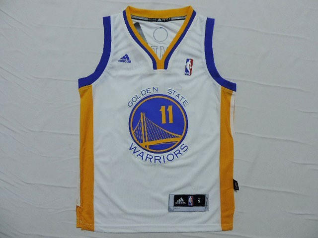 ... Divise Basket Personalizzate NBA Bambino Golden State Warriors NO.11  Klay Thompson Bianco ... 83889938ebe7