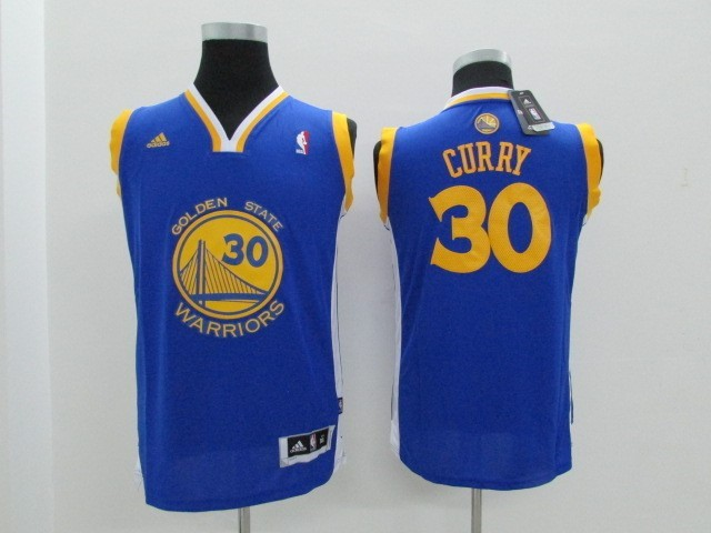 ... Divise Basket Personalizzate NBA Bambino Golden State Warriors NO.30  Stephen Curry Blu 67419b7088c0