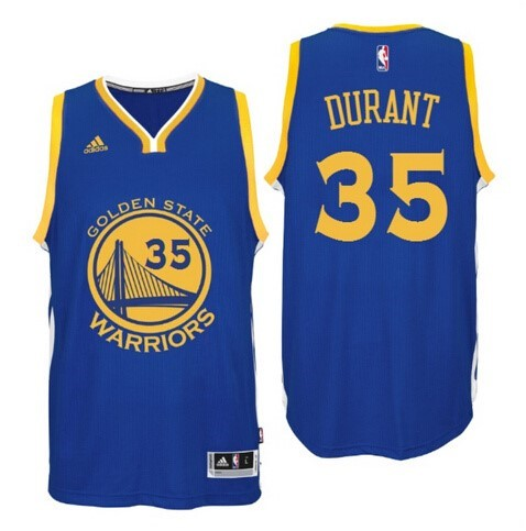 ... Divise Basket Personalizzate NBA Golden State Warriors NO.35 Kevin  Durant Blu   f6897f68d5c8